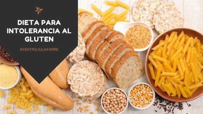 Dieta sin gluten para intolerancia o malabsorción